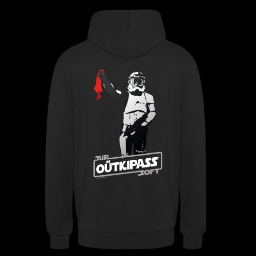 OutKipass Noir - Sweat-shirt à capuche unisexe