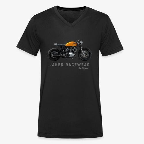 Jakes Cafe Racewear - Økologisk Stanley & Stella T-shirt med V-udskæring til herrer