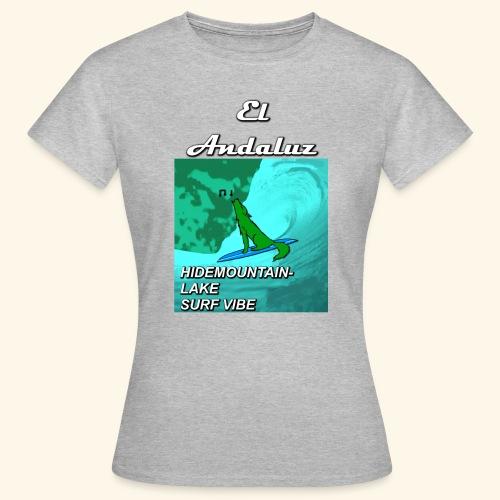 Frauen T-Shirt Surfing Wolf - Frauen T-Shirt