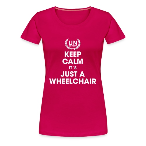Keep calm Wheelie - Frauen Premium T-Shirt