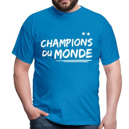 France Champions du Monde 2 étoiles  - T-shirt Homme