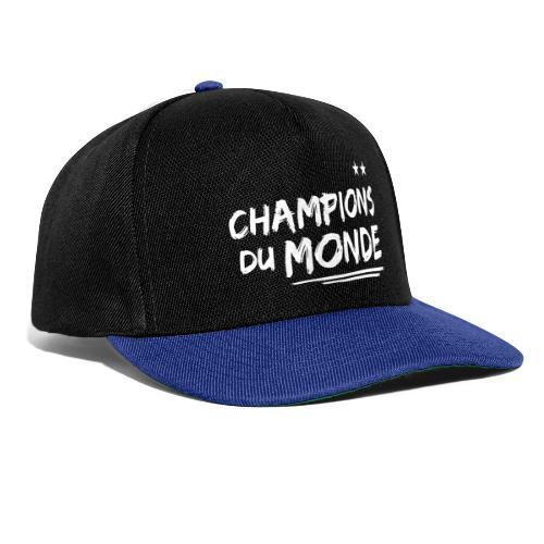 France Champions du Monde 2 étoiles  - Casquette snapback