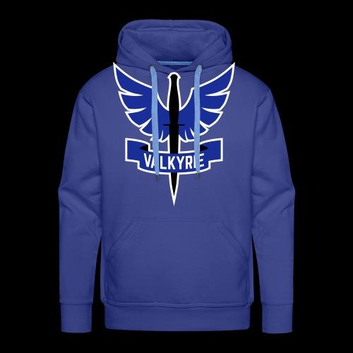 Men's Hoodie with Blue Valkyrie Logo - Men's Premium Hoodie