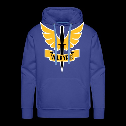Men's Hoodie with Orange Valkyrie Logo - Men's Premium Hoodie