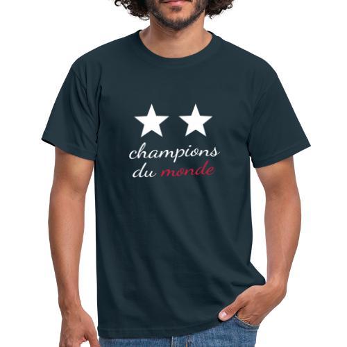 2 étoiles France Champions du monde - T-shirt Homme