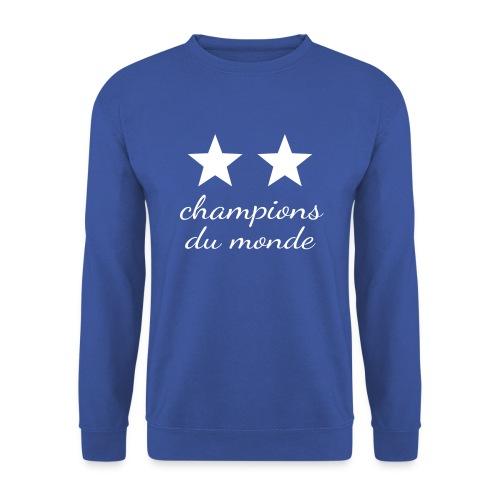 2 étoiles France Champions du monde - Sweat-shirt Homme