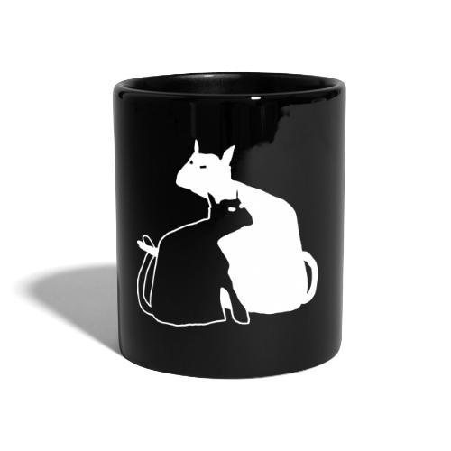 katzen - Tasse einfarbig