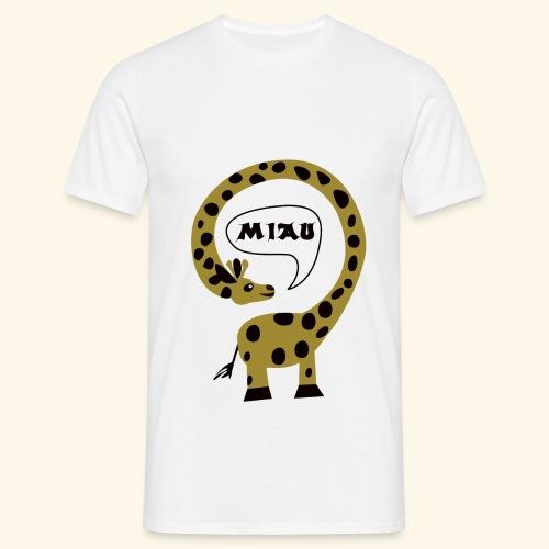 Giraffe-Miau Männer - Männer T-Shirt