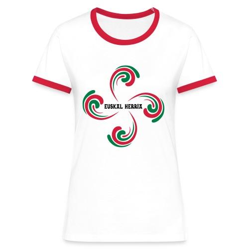 Croix Basque - T-shirt contrasté Femme