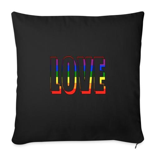 Love Pride Rainbow - Sofakissenbezug 44 x 44 cm