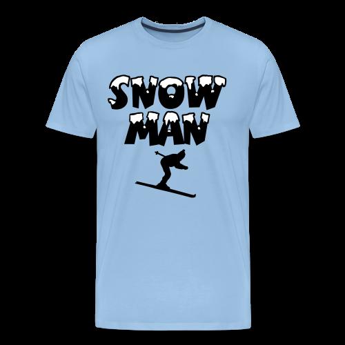 Snowman Ski Skifahrer Premium T-Shirt - Männer Premium T-Shirt