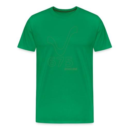 675Games Unisex Hood Shirt Green - Männer Premium T-Shirt