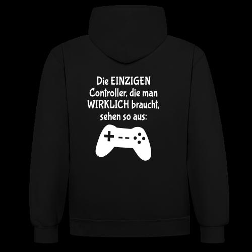 Controller Gamer BWLer Spruch Unisex Hoodie - Kontrast-Hoodie