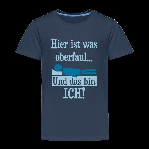 Faul Schlafen Spruch Kinder T-Shirt - Kinder Premium T-Shirt