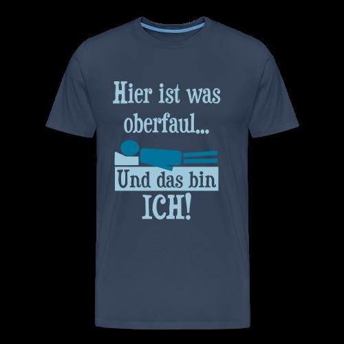 Faul Schlafen Spruch T-Shirt - Männer Premium T-Shirt