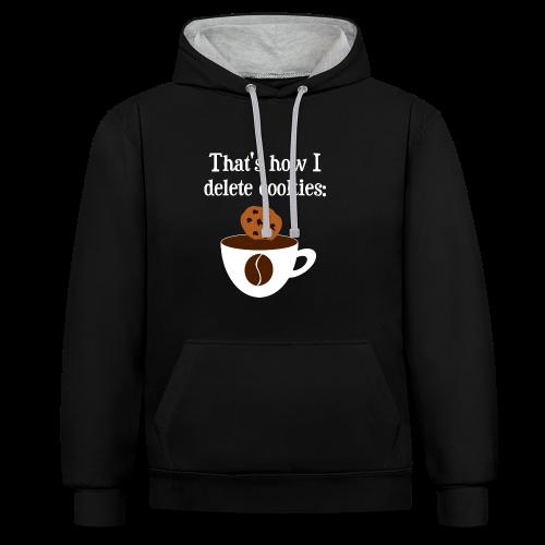 Cookies Kaffee Nerd Geek Unisex Hoodie - Kontrast-Hoodie
