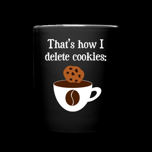 Cookies Kaffee Nerd Geek Tasse - Tasse einfarbig