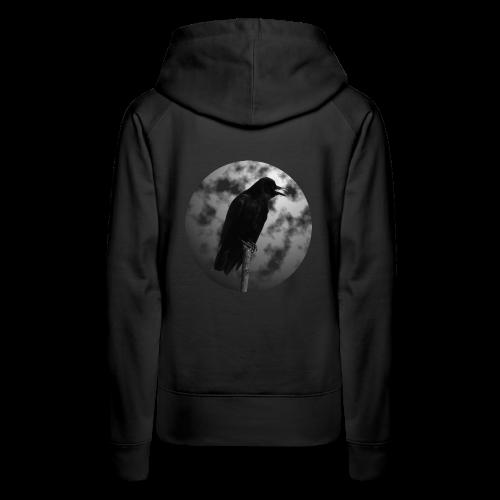 Rabe Mond Gothic Hoodie - Frauen Premium Hoodie