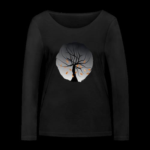 Baum Blätter Herbst Mode Langarmshirt - Frauen Bio-Langarmshirt von Stanley & Stella