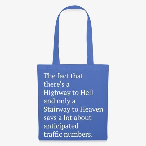 NB Tasche Highway to Hell  - Stoffbeutel