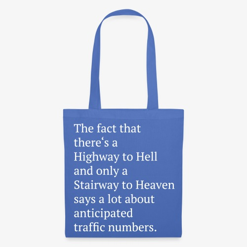 NB Tasche Highway to Hell  - Stoffbeutel