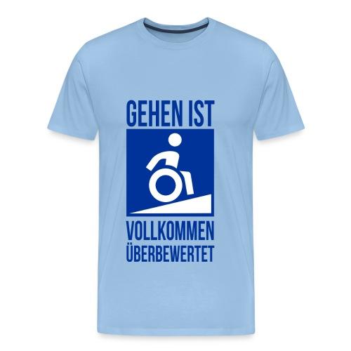 Überwertungsgang himmelblau - Männer Premium T-Shirt