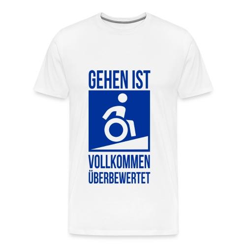 Überwertungsgang weiß - Männer Premium T-Shirt