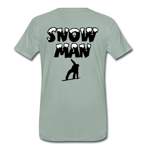 Snowman Snowboarder Premium Snowboard T-Shirt - Männer Premium T-Shirt