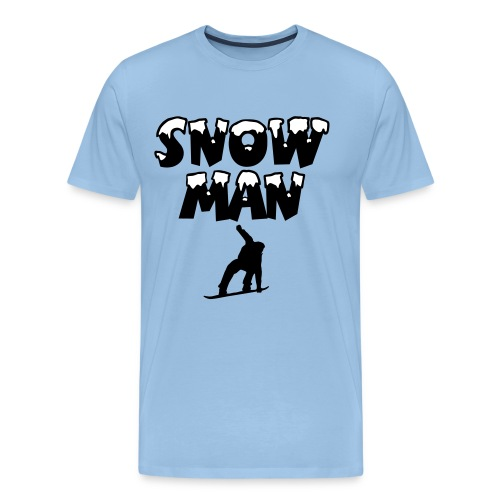 Snowman Snowboard Premium Snowboarder T-Shirt - Männer Premium T-Shirt