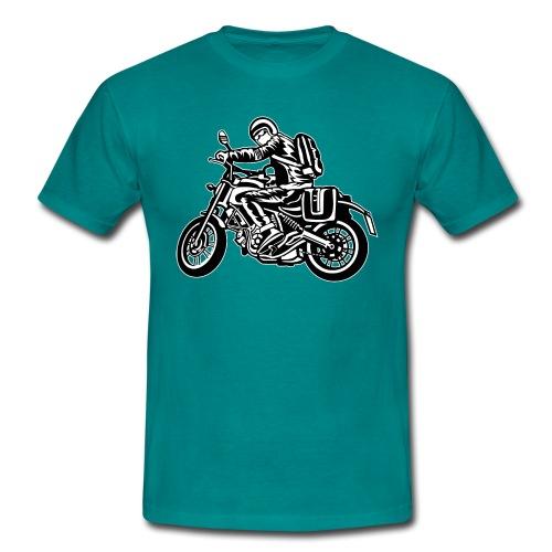 Motero en la carretera - Camiseta hombre