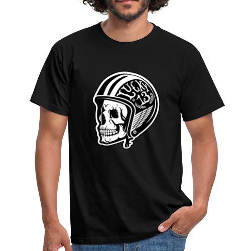 Calavera motera con casco - Camiseta hombre