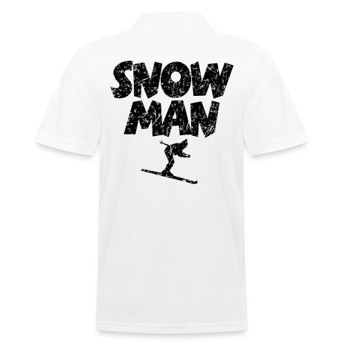 Snowman Ski Skifahrer Poloshirt - Männer Poloshirt