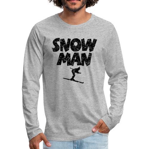 Snowman Ski Skifahrer Shirt - Männer Premium Langarmshirt