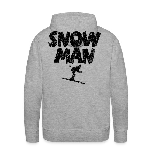 Snowman Ski Skifahrer Hoodie - Männer Premium Hoodie