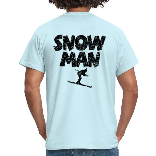 Snowman Ski Skifahrer T-Shirt - Männer T-Shirt