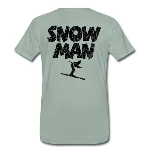 Snowman Ski Premium Skifahrer T-Shirts - Männer Premium T-Shirt