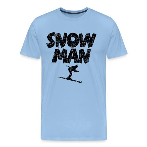 Snowman Ski Premium Skifahrer T-Shirt - Männer Premium T-Shirt