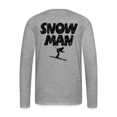 Snowman Ski Skifahrer Shirts - Männer Premium Langarmshirt
