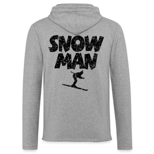 Snowman Ski Skifahrer Leicht Hoodie - Leichtes Kapuzensweatshirt Unisex