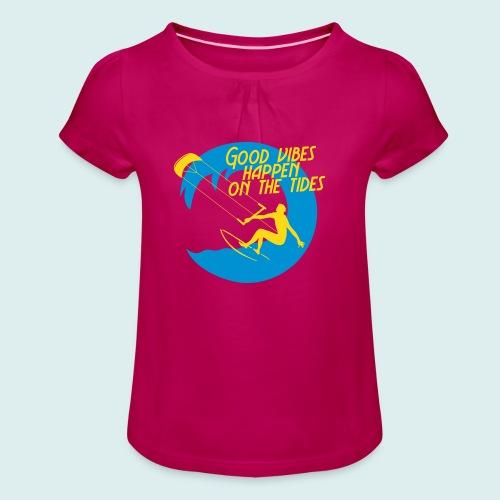 kite - Meisjes-T-shirt met plooien