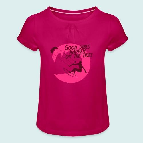 Meisjes-T-shirt met plooien