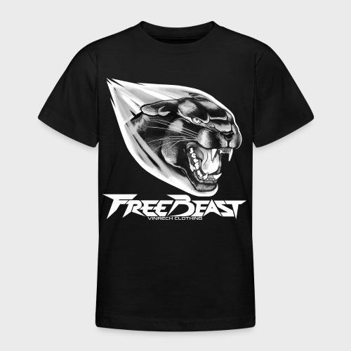 VINRECH CLOTHING - FREE BEAST - BLACK PANTHER SILVER - T-Shirt Ado - T-shirt Ado