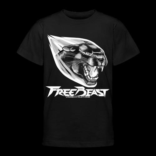 VINRECH CLOTHING - FREEBEAST - BLACK PANTHER SILVER - T-Shirt Ado - T-shirt Ado