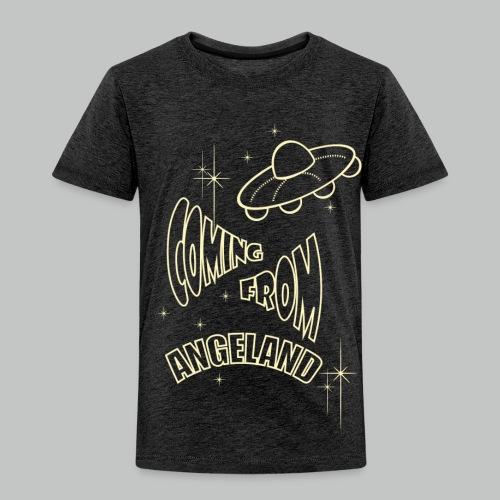 Kids - Coming From Angeland UFO (Front) - Light Blue logo - Kids' Premium T-Shirt