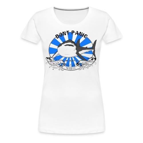 Premium Shirt Crazy white Girl Bluesun - T-shirt Premium Femme