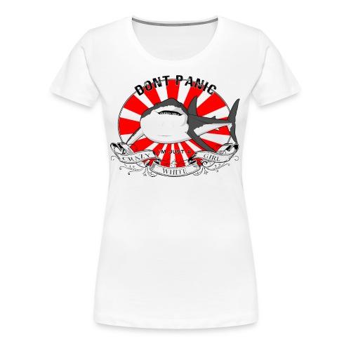 Premium Shirt Crazy white Girl Redsun - T-shirt Premium Femme