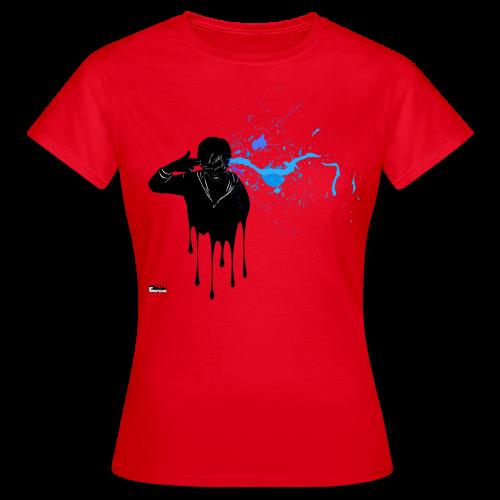 Kopfschuss (blau) - Frauen T-Shirt