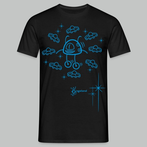 Robot & UFO from Angeland - Men's T-Shirt
