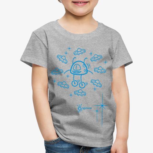 Kids - Robot & UFO from Angeland - Kids' Premium T-Shirt
