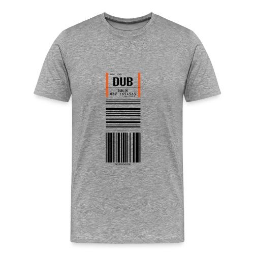 Flughafen Dublin DUB - Männer T-Shirt - Männer Premium T-Shirt